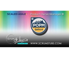 Product manager Product Owner Certification | SAFe | Scrum Stubs |