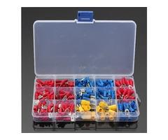 Soloop 280Pcs 2.8-6.3mm Assorted Crimp Spade Insulated Terminal Connectors