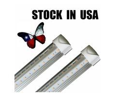 8ft led tube lights V-Shape 8 foot design shop LED lights fixture Cooler Door Freezer lighting fluor