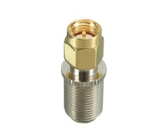 F Female Jack to SMA Male Plug RF Coaxial Adapter Connector