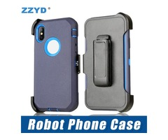ZZYD Robot 3 in 1 TPU PC Multi-layer Protection Case Shockproof Drop Protection Cover for iPX/Xr/Xs