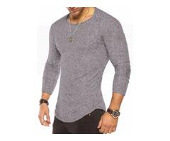 Tidebuy Multi Colors Scoop Slim Fit Mens T-Shirt