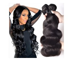 Unprocessed Brazilian Kinky Straight Body Loose Deep Wave Curly Hair Weft Human Hair Peruvian Indian