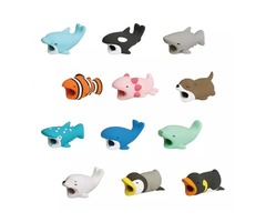 36 Styles Cable Bite Charger Cable Protector Savor Cover for iPhone Cute Animal Design Charging Cord