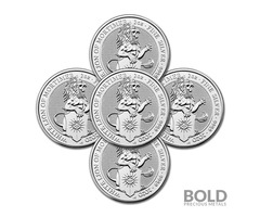 2020 Silver Britain Queen's Beasts (White Lion) Coin