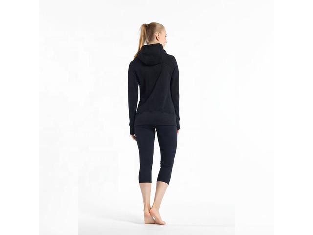 Latest design women athletic cotton hoodies fashion thumb hole oem logo full zip ladies sport hoodie | free-classifieds-usa.com