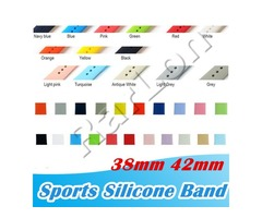 New 28 Colors Silicone Sport Bands Replacement For Apple Watch Band Wrist Strap With Adapters Access