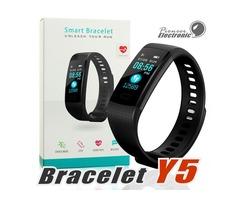 Y5 Smart Bracelet Wristband Fitness Tracker Color Screen Heart Rate Sleep Pedometer Sport Waterproof