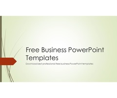 Latest Free Professional Business PowerPoint Templates
