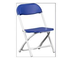 Kids Blue Plastic Folding Chair - Get.Furniture