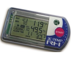 Single-use Temperature & Humidity Logger with Real-Time LCD Display for Instant Acceptance.