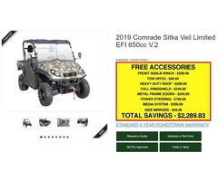2019 ODES COmrade Sitka 650cc 4x4 | free-classifieds-usa.com