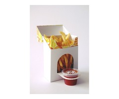 Cardboard French fries packaging boxes