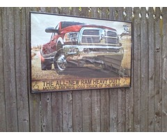ORIGINAL Dodge Ram LARGE DEALER SHOWROOM FRAMED DISPLAY SET | free-classifieds-usa.com