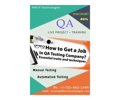 QA Manual & Automation Testing +  LIVE Project Training in USA