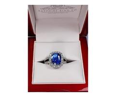 Untreated Sapphire Platinum Ring