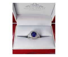 blue Natural Sapphire Ring