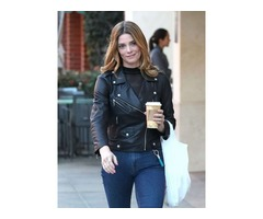 Ashley Greene Real Cowhide Leather Jacket