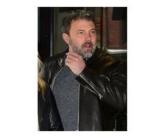 Ben Affleck Real Cowhide Leather Jacket
