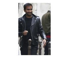 Aziz Ansari Real Cowhide Leather Jacket