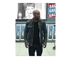 Ricky Whittle American Gods Real Distressed Cowhide Leather Jacket
