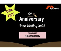 MyLightHost 6th Anniversary Sale! 10% OFF