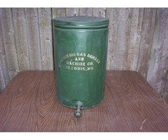 "Oliver 1920s GREEN 15"" Oil Tin Oliver Machine can"