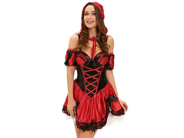Best selling Halloween Miss red riding hood sexy cosplay ...