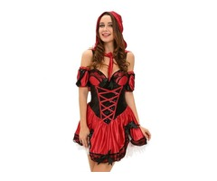 Best selling Halloween Miss red riding hood sexy cosplay costume women