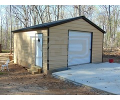 Buy Prefab Backyard Metal Storage Garage at Metal Carports Direct