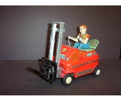 Awesome Old Tin Toy Fork Lift Modern Toys Japan 1950s Nice