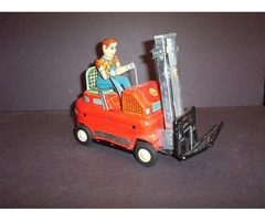 Awesome Old Tin Toy Fork Lift Modern Toys Japan 1950s Nice | free-classifieds-usa.com