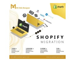 Get Shopify migration services at affordable price