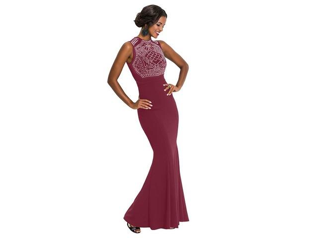 Rhinestone Embellished Bodice Sleeveless Party Dress  | free-classifieds-usa.com