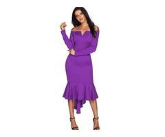 Wholesale Oem Fashion Off Shoulder Women Party Dress