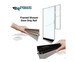 Framed Shower Door Drip Rail - Shower Door Rails | pFOkUS