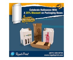 Celebrate Halloween with A 25% Discount on Packaging Boxes | RegaloPrint