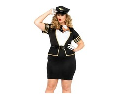 Cosplay Plus Size 5pcs Mile High Pilot Halloween Costume