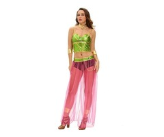 2019 Hot Selling Halloween Cosplay Green Pink 6pcs Slave Princess Costume