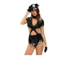 6pcs Police Woman Uniform Sexy Cop Halloween Costume  | free-classifieds-usa.com