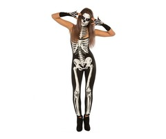 Gold Supplier Women Skeleton Jumpsuit Halloween Sexy Girl Cosplay Costume