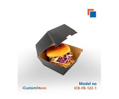 Customizable burger packaging
