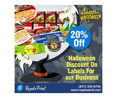 20% Halloween Discount On Labels For Your Business | RegaloPrint