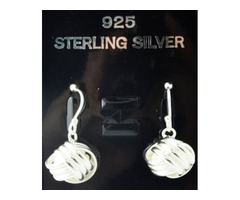 3 Lines Tri Knot 925 Sterling Simply Silver Hook Earrings