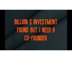 Billion $ Investment Found But I Need A Co-Founder