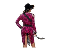 6 pcs HESSZ 2019 Ladies Hot Pink Sexy Swashbuckler Halloween Pirate Costume | free-classifieds-usa.com