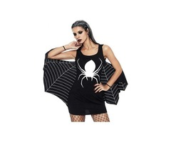 Black And White Jersey Dress Spiderweb Cosplay Costume | free-classifieds-usa.com