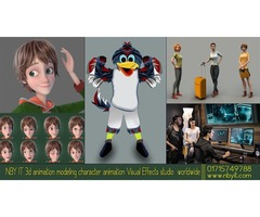 NBY IT 3d animation modeling character animation Visual Effects studio worldwide
