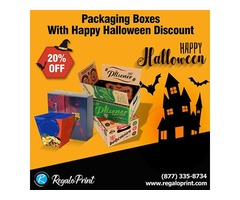 Packaging Boxes With 20% Happy Halloween Discount | RegaloPrint