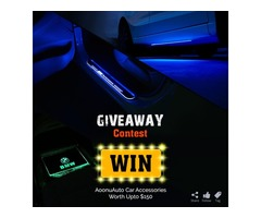 Giveaway Time!! Enter to win LED Foot Mats, LED Door Sill, LED Underbody Lights